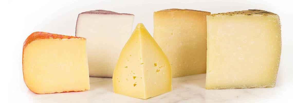 Eine Vielzahl von Käsesorten