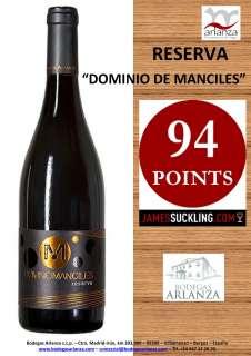 Rotwein Dominio de Manciles, Reserva