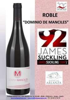 Rotwein Dominio de Manciles, Roble