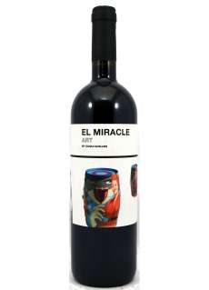Rotwein El Miracle Art By Cari Roig